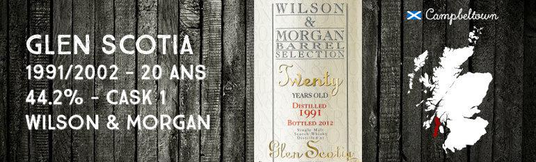 Glen Scotia Twenty– 1991/2012 – 20yo – 44,2% – Cask 1 – Wilson & MorganBarrel Selection