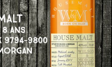 House Malt Born on Islay - 2002/2011- 8yo - 43 % - Cask 9794-9800 - Wilson & Morgan UD