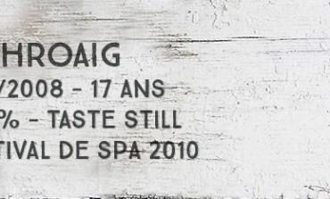 Laphroaig 1991/2008 - 17yo - 56,7 % - Taste Still Festival de Spa 2010
