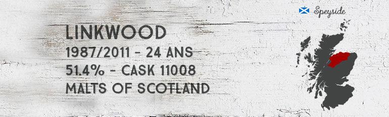 Linkwood 1987/2011 – 24yo – 51,4% – Cask11008 – Malts of Scotland