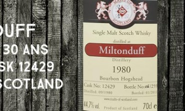 Miltonduff 1980/2011 - 30yo - 44,7 % - Cask 12429 - Malts of Scotland