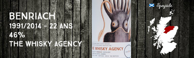 Benriach – 1991/2014 – 22yo – 50,7 % – The Whisky Agency – Mollusc & Medusa