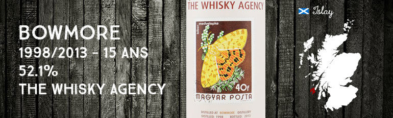 Bowmore 1998/2013 – 15yo – 52,1 % – The Whisky Agency – Stamp Series