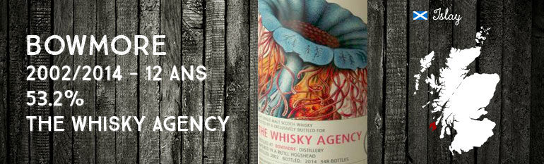 Bowmore 2002/2014 – 12yo – 53,2 % – The Whisky Agency – Mollusc & Medusa