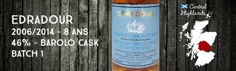 Edradour – 2006/2014 – 8yo – 46% – Barolo Cask Matured Batch 1 – OB