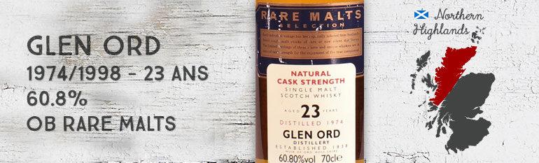 Glen Ord – 1974/1998 – 23yo – 60,8% – OB Rare Malts