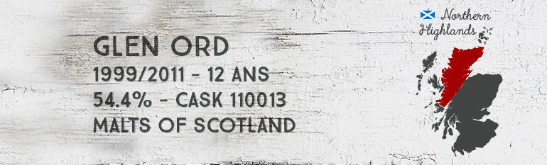 Glen Ord – 1999/2011 – 12yo – 54,4 % – Cask 110013 – Malts of Scotland