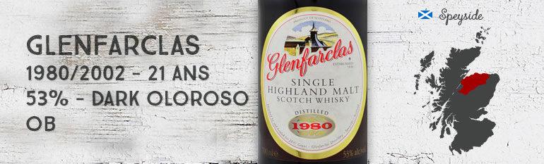 Glenfarclas 1980/2002 – 21yo – 53% – DarkOloroso – OB – Imported by Fillers Graanstokerij N.V/S.A