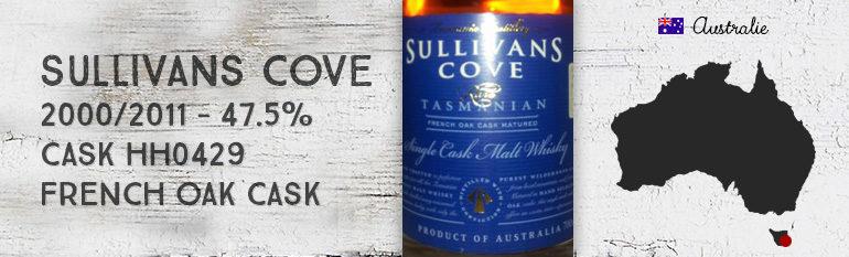 Sullivans Cove – 2000/2011 – 47,5% – CaskHH0429 – SingleCaskFrenchOakCask – OB