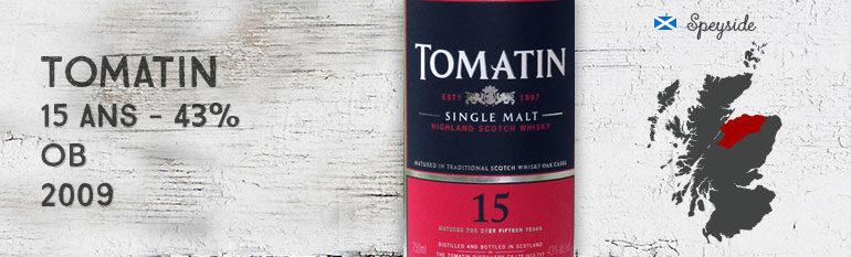 Tomatin 15yo – 43% – OB – 2009