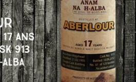 Aberlour - 1995/2012 - 17yo - 60,6 % - Cask 913 - Anam Na H-Alba