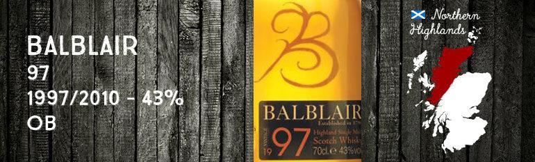 Balblair 97 – 1997/2010 – 43 % – OB