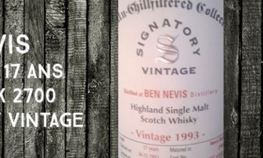 Ben Nevis - 1993/2011 - 17yo - 46% - Cask 2700 - Signatory Vintage Un-Chillfiltered Collection