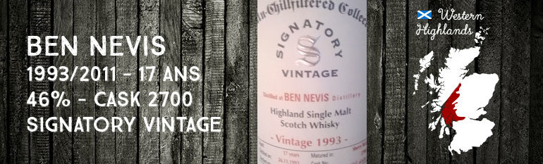 Ben Nevis – 1993/2011 – 17yo – 46% – Cask 2700 – Signatory Vintage Un-Chillfiltered Collection
