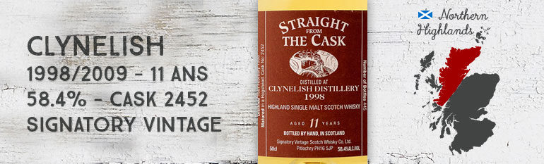 Clynelish – 1998/2009 – 11yo – 58,4 % – Cask2452 – Signatory Vintage – StraightFromTheCask