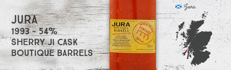 Jura 1993 – 54 % – Boutique Barrels – Sherry Ji Cask