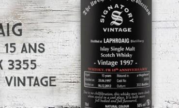 Laphroaig 1997/2012 - 15yo - Cask 3355 - 50% - Signatory Vintage for whisky.fr 15thAnniversary