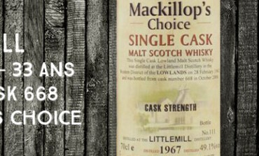 Littlemill - 1967/2000 - 33yo - 49,1 % - cask 668 - MacKillop's Choice