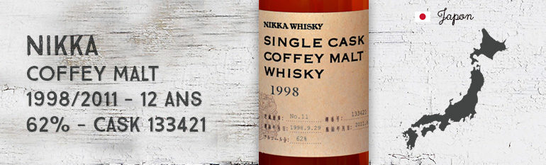 Nikka – Single Cask Coffey Malt Whisky – 1998/2011 – 12 yo – 62 % – cask 133421 – forLMDW