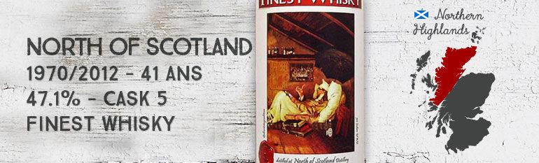 North of Scotland – 1970/2012 – 41yo – 47,1% – cask 5 – Finest Whisky