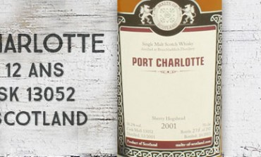 Port Charlotte 2001/2013 – 12yo – 58,2 % – cask 13052 – Malts of Scotland