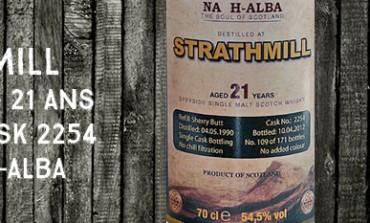 Strathmill - 1990/2012 - 21yo - 54,5 % - Cask2254 - Anam Na H-Alba