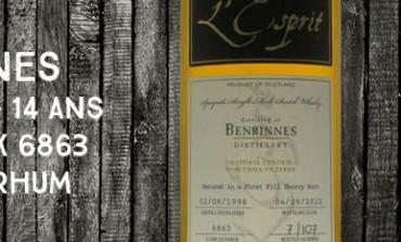 Benrinnes - 1998/2012 - 14yo - 46% - cask 6863 - Whisky & Rhum L'esprit