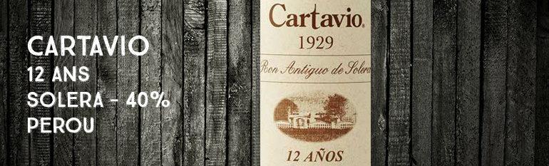 Cartavio – 12yo – Solera – Perou – 40% – OB