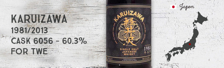 Karuizawa– 1981/2013 – Cask 6056 –  60,3% – Number One Drinks Ltd for The Whisky Exchange
