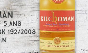 Kilchoman - 2008/2013 - 5yo -  61,7 % - Cask 192/2008 - OB Single Cask for WIN