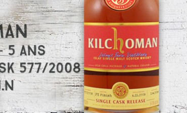 Kilchoman - 2008/2014 - 5yo - 54,9% - Cask 577/2008 - PX Finish - Embouteillé pour WIN 10th release
