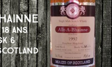 Allt-A-Bhainne - 1992/2011 -18yo - 56,1% - Cask 6 - Malts of Scotland