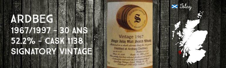 Ardbeg – 1967/1997 – 30yo – 52,2% – Cask 1138 – Signatory Vintage