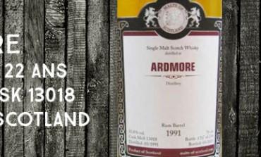 Ardmore - 1991/2013 - 22yo - 53,8% - Cask 13018 - Malts of Scotland Rum Barrel