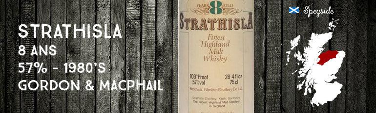 Strathisla – 8yo – 57% – Gordon & MacPhail – 1980's