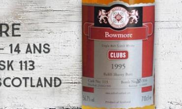 Bowmore - 1995/2009 - 14yo - 56,7% - Cask 113 - Malts of Scotland Maltisten-Westfalen Clubs 01