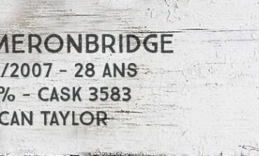 Cameronbridge - 1979/2007 - 28yo - 54,4 % - cask 3583 - Duncan Taylor Rare Auld