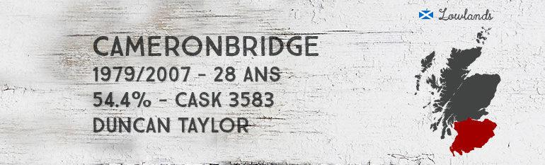 Cameronbridge – 1979/2007 – 28yo – 54,4 % – cask 3583 – Duncan Taylor Rare Auld