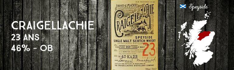 Craigellachie– 23yo – 46% – OB – 2014