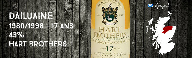 Dailuaine – 1980/1998 – 17yo – 43% – Hart Brothers