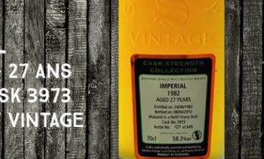Imperial - 1982/2010 - 27yo - 58,3 % - cask 3973 - Signatory Vintage Cask Strength