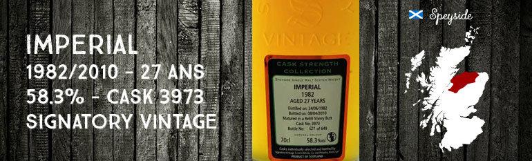 Imperial – 1982/2010 – 27yo – 58,3 % – cask 3973 – Signatory Vintage Cask Strength