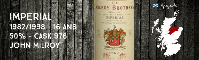 Imperial – 1982/1998 – 16 yo – 50% – Cask 974 – John Milroy
