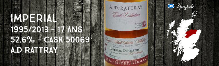 Imperial – 1995/2013 – 17yo – 52,6% – Cask 50069 – A.D. Rattray for Alba Import