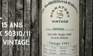 Imperial - 1995/2011 - 15yo - 46 % - Cask 50310+50311 - Signatory Vintage Un-Chillfiltered Collection