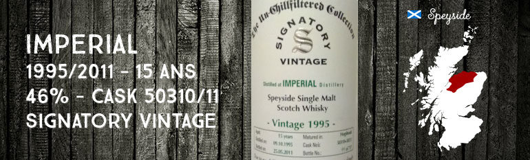 Imperial – 1995/2011 – 15yo – 46 % – Cask 50310+50311 – Signatory Vintage Un-Chillfiltered Collection