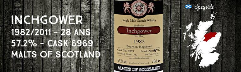 Inchgower 1982/2011 – 28yo – 57,2% – Cask6969 – Malts of Scotland