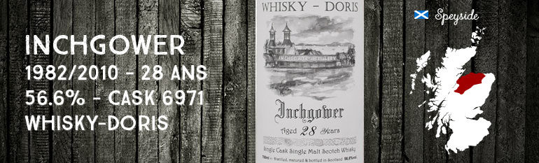 Inchgower 1982/2010 – 28yo – 56,6 % – Cask 6971 – Whisky-Doris