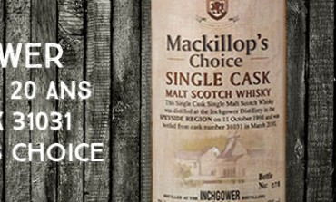 Inchgower 1990/2010 - 20yo - 43 % - cask 31031 - MacKillop's Choice