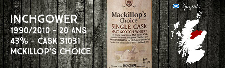Inchgower 1990/2010 – 20yo – 43 % – cask 31031 – MacKillop's Choice